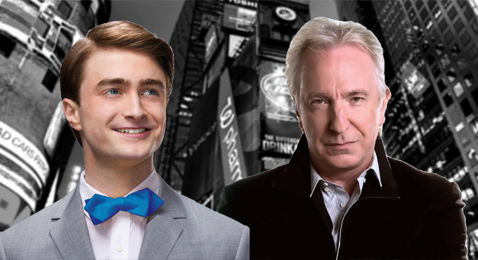 Alan Rickman and Daniel Radcliffe